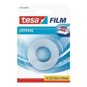 Banda adeziva TESA Crystal, 19 mm x 33 m