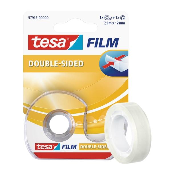 Banda dublu adeziva cu dispenser TESA, 7.5 m x  12 mm