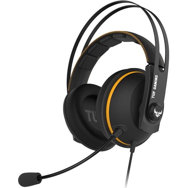 Casti Gaming ASUS TUF Gaming H7 Core, multiplatforma, 3.5mm, negru-galben