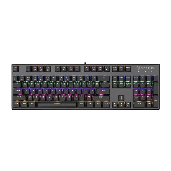 Tastatura Gaming VERTUX Tactical, RGB, USB, negru