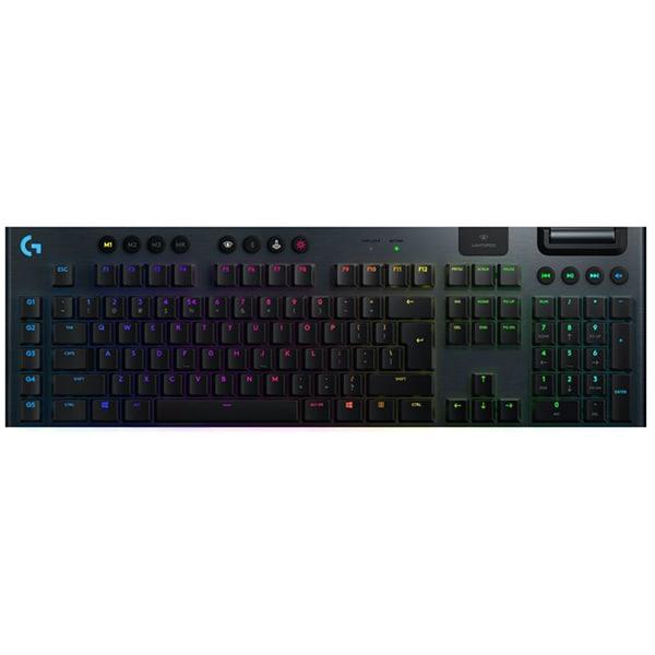 Tastatura Gaming mecanica LOGITECH G915 Tactile Switch, Wireless, Layout INT, negru
