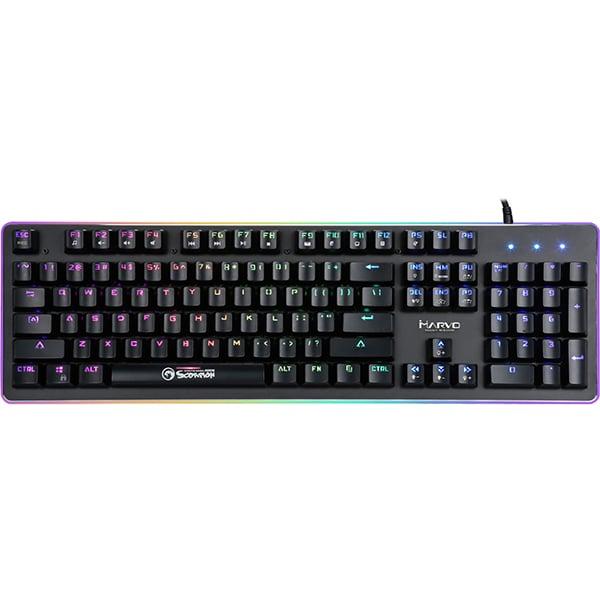 Tastatura Gaming mecanica MARVO KG954G, Outemu Red Switch, USB, negru