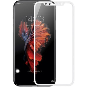 Folie Tempered Glass pentru iPhone X, SMART PROTECTION, fulldisplay, alb