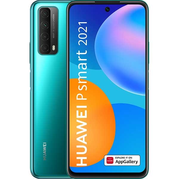 Telefon HUAWEI P Smart 2021, 128GB, 4GB RAM, Dual SIM, Crush Green