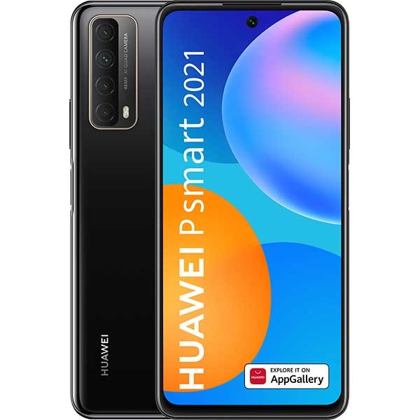 Telefon HUAWEI P Smart 2021, 128GB, 4GB RAM, Dual SIM, Midnight Black