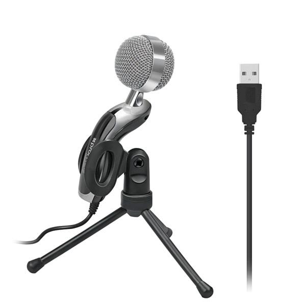 Microfon PC PROMATE Tweeter-6, USB, negru
