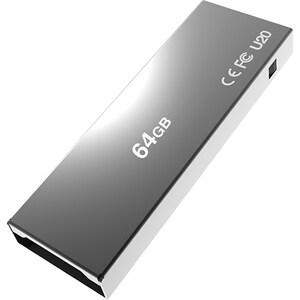 Memorie USB ADDLINK U20, 64GB, USB 2.0, Titanium