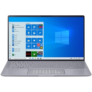 "Laptop ASUS ZenBook 14 UM433IQ-A5024T, AMD Ryzen 5 4500U pana la 4GHz, 14"" Full HD, 8GB, SSD 512GB, NVIDIA GeForce MX350 2GB, Windows 10 Home, Light Grey"