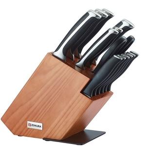 Set cutite ZOKURA Z1193, 14 piese, 9-20cm, negru