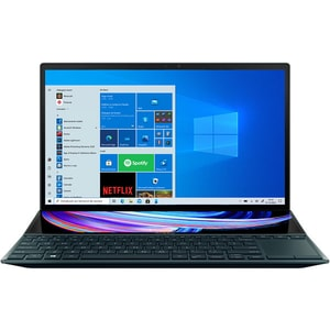 "Laptop ASUS ZenBook Duo 14 UX482EG-HY014R, Intel Core i7-1165G7 pana la 4.7GHz, 14"" Full HD Touch, 16GB, SSD 1TB, NVIDIA GeForce MX450 2GB, Windows 10 Pro, Celestial Blue"