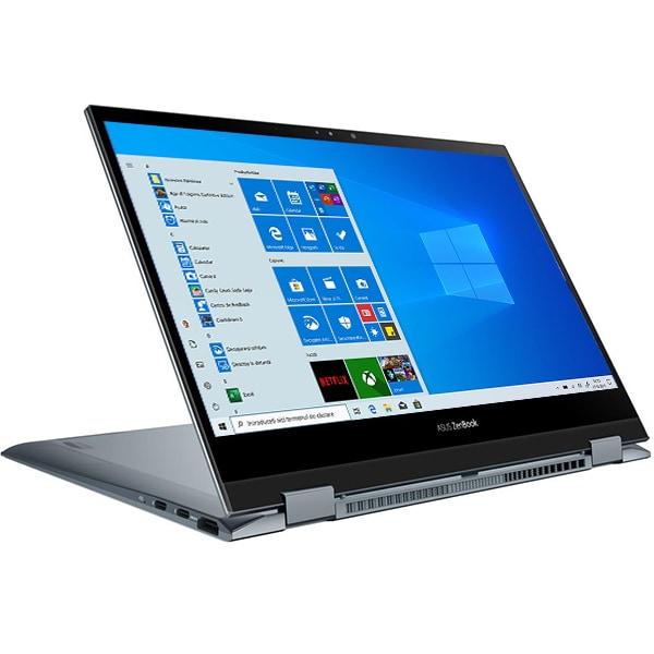 "Laptop 2 in 1 ASUS ZenBook Flip 13 OLED UX363EA-HP322R, Intel Core i7-1165G7 pana la 4.7GHz, 13.3"" Full HD Touch, 8GB, SSD 512GB, Intel Iris Xe, Windows 10 Pro, gri"