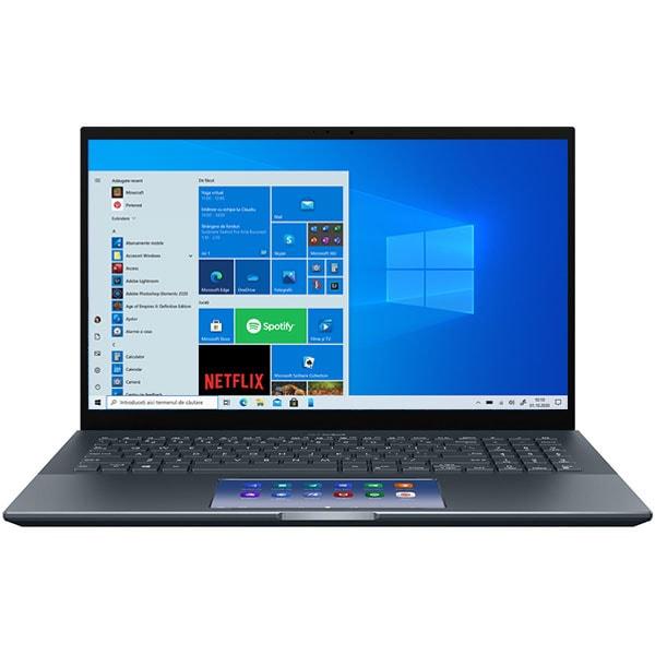 "Laptop ASUS ZenBook Pro UX535LI-H2171R, Intel Core i7-10870H pana la 5.0GHz, 15.6"" 4K UHD Touch, 16GB, SSD 512GB, NVIDIA GeForce GTX 1650 Ti 4GB, Windows 10 Pro, gri"