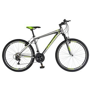 "Bicicleta Mountain Bike-HT VELORS Double V2671A, 26"", cadru aluminiu, gri/verde"