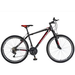 """Bicicleta Mountain Bike-HT VELORS Double V2671A, 26"""", cadru aluminiu, negru/rosu"""