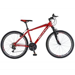 "Bicicleta Mountain Bike-HT VELORS Double V2671A, 26"", cadru aluminiu, rosu/alb"