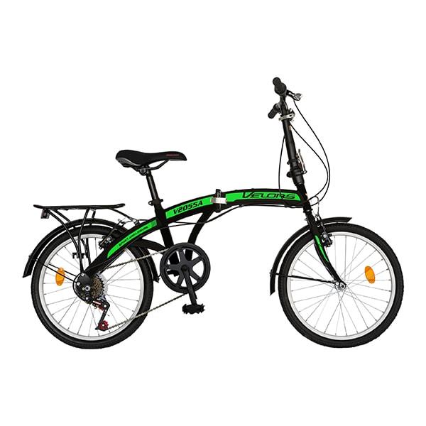 "Bicicleta pliabila VELORS V2055A, 20"", negru-verde"
