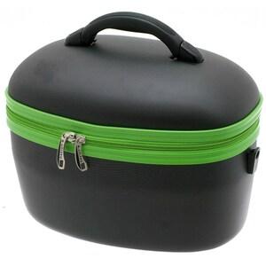 Geanta pentru cosmetice DAVIDT'S, negru-verde