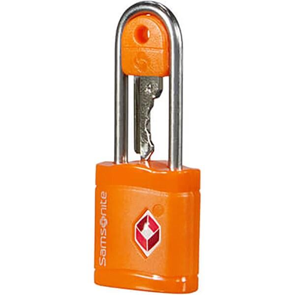 Lacat cu cheie SAMSONITE TSA, portocaliu