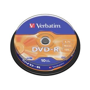DVD-R VERBATIM VB10401, 16x,  4.7GB, 10 buc