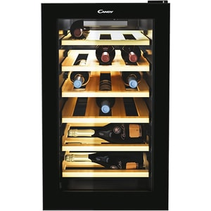 Racitor de vinuri CANDY CWCEL 210, 21 sticle, H 70 cm, Clasa G, negru