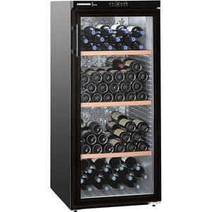 Racitor de vinuri LIEBHERR WKb 3212, PowerCooling, 164 sticle, H 135 cm, Clasa G, negru