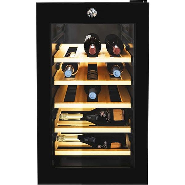 Racitor de vinuri HOOVER HWC 21/E, 21 sticle, H 69.5 cm, Clasa B, negru