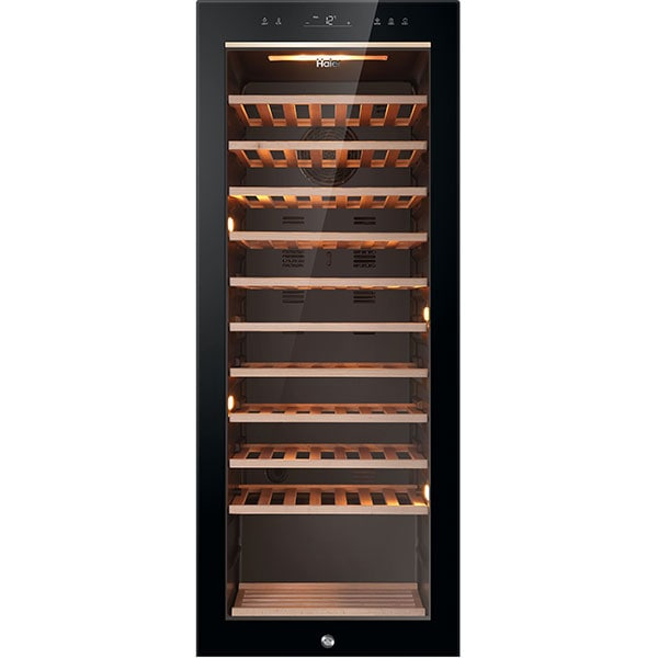 Racitor de vinuri HAIER HWS84GA, 84 sticle, H 127 cm, Clasa G, negru
