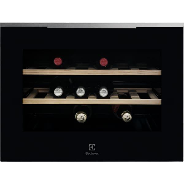 Racitor de vinuri incorporabil ELECTROLUX KBW5X, 18 sticle, H 45.5 cm, Clasa A++, negru