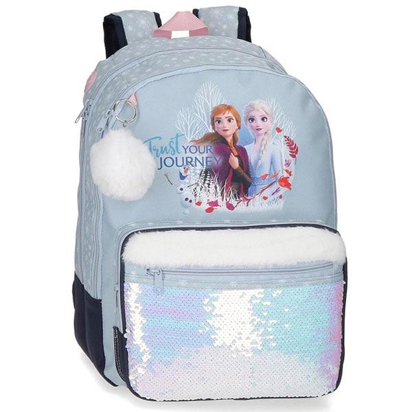 Ghiozdan scoala DISNEY Frozen Trust Your Journey 25424.61, albastru