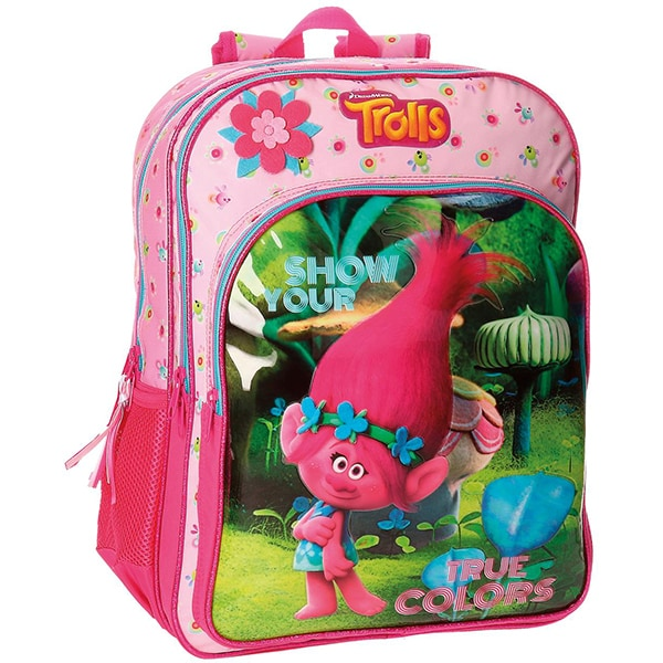Ghiozdan de scoala DREAMWORKS Trolls TRUE Colors 27524.51, multicolor