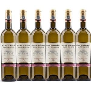 Vin alb sec Vincon Beciu Domnesc Grand Reserve Sauvignon Blanc, 0.75L, 6 sticle