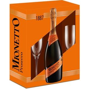 Vin spumant Prosecco alb Mionetto Prosecco D.O.C. Orange, 0.75L + 2 pahare