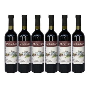 Vin rosu sec Crama Mihai Sava Cabernet Sauvignon, 0.75l, 6 sticle