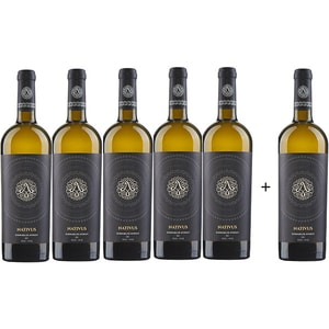 Vin alb sec Averesti Nativus Zghitara de Husi, 0.75L, 5+1 sticle