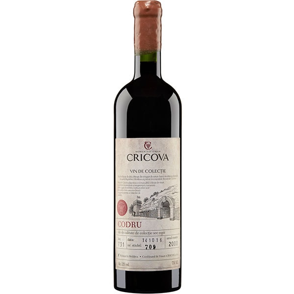 Vin rosu sec Cricova Colectie Codru 2000 Cabernet Sauvignon, 0.75L