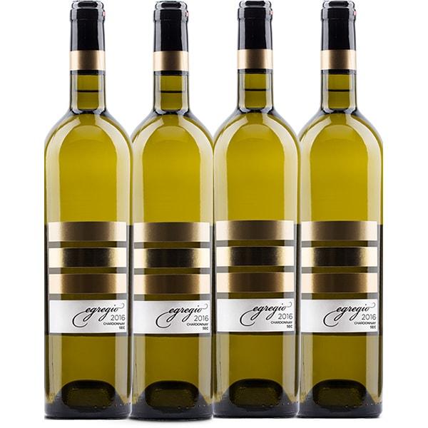 Vin alb sec Vincon Egregio Chardonnay Sec 0.75L, 4 sticle