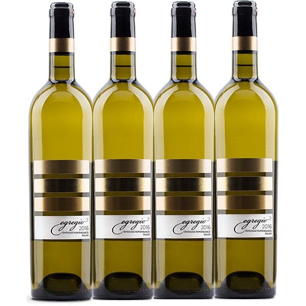 Vin alb dulce Egregio Tamaioasa Romaneasca, 0.75L, 4 sticle