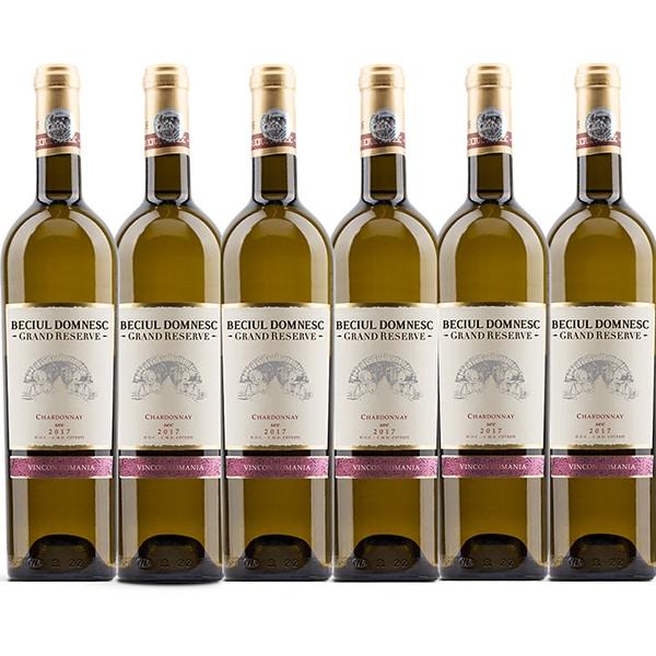 Vin alb sec Vincon Beciu Domnesc Grand Reserve Chardonnay, 0.75L, 6 sticle