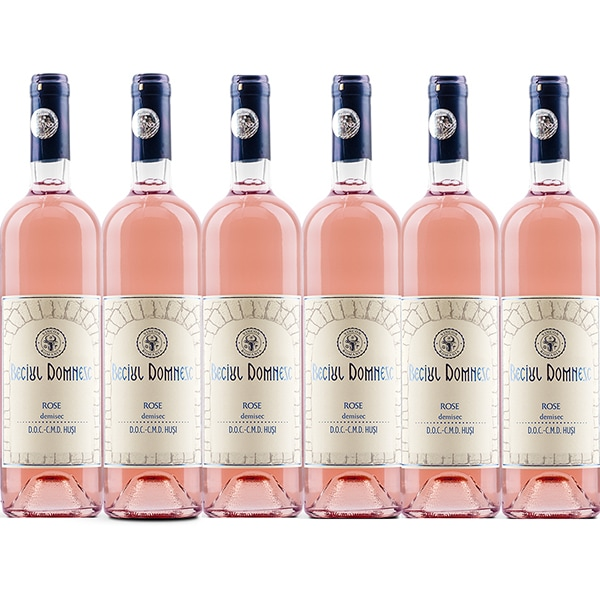 Vin alb demisec Vincon Beciul Domnesc Rose Demisec, 0.75L, 6 sticle