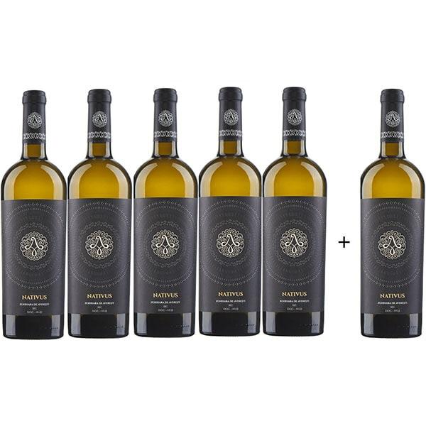 Vin alb sec Averesti Nativus Zghitara de Husi, 0.75L, 5+1 sticle