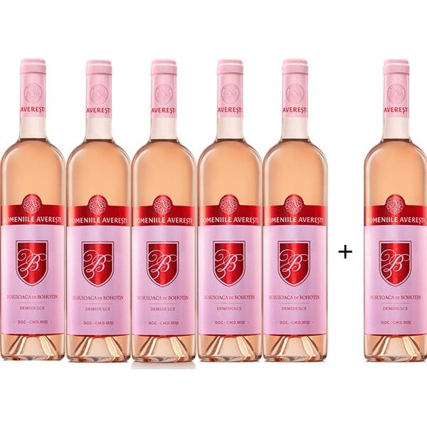 Vin rose demidulce Averesti Regala Busuioaca de Bohotin, 0.75L, 5+1 sticle