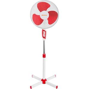 Ventilator cu picior VORTEX VNTVO4225, 3 trepte de viteza, 40 cm, 40W, alb-rosu