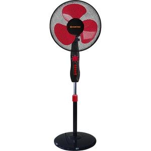 Ventilator cu picior VORTEX VO4226, 3 trepte de viteza, 40 cm, 40W, negru-rosu