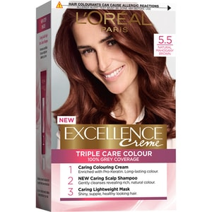 Vopsea de par L'OREAL Paris Excellence , 5.5 Saten deschis Mahogany, 192ml