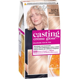 Vopsea de par L'OREAL Paris Casting Creme Gloss, 1021 Blond Perle, 180ml