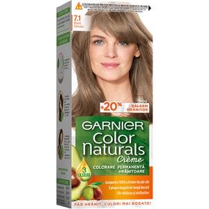 Vopsea de par GARNIER  Color Naturals, 7.1 Blond Cenusiu, 110ml