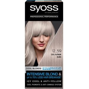 Vopsea de par SYOSS Cool Blonds, 12-59 Cool Platinum Blond, 115ml