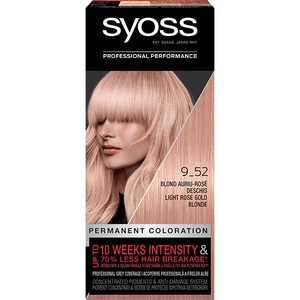Vopsea de par SYOSS Color Baseline, 9-52 Blond Auriu Rose Deschis, 115ml