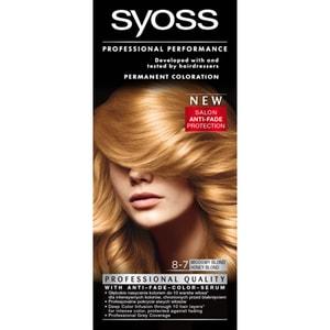 Vopsea de par SYOSS Color Base Line, 8-7 Blond miere, 115ml