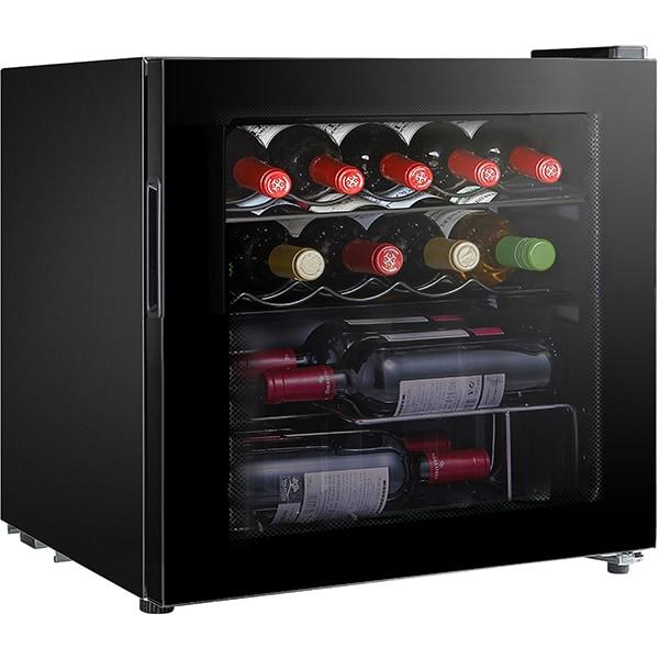 Racitor de vinuri VORTEX VO1019, 14 sticle, H 49.2 cm, Clasa G, negru